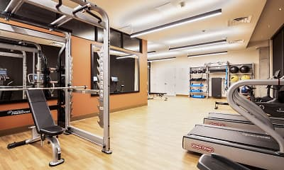 Fitness Weight Room, Jones Berkeley Apartments, 2