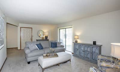Living Room, Broadway Village Apartments, 0