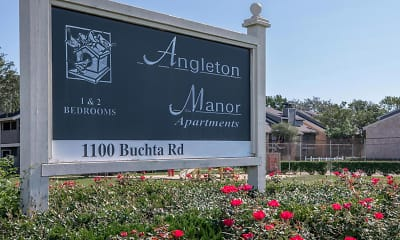 Community Signage, Angleton Manor, 2