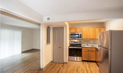 Kitchen, Parkway Apartments, 0