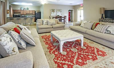 Living Room, Lafayette Garden Apartments, 1