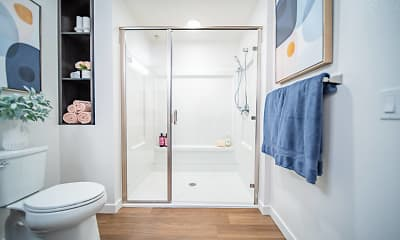 Bathroom, Palmia 55+ Apartments, 2