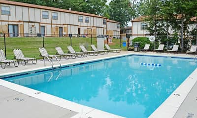 Pool, Country Club Apartments, 1