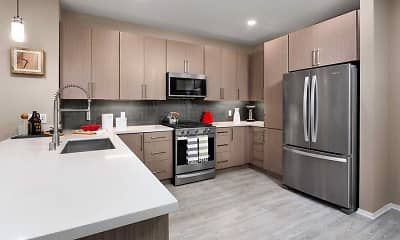 Kitchen, Avalon Studio City, 1