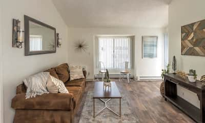 Living Room, Keyway Apartments, 1