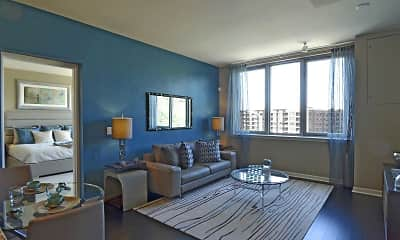 Living Room, RiverTrace at Port Imperial, 1