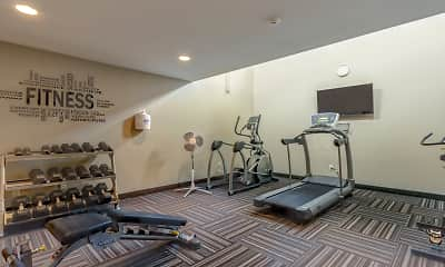 Fitness Weight Room, Northern Heights Apartments, 1