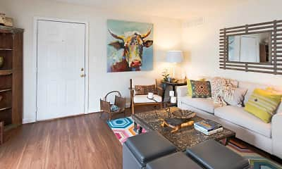 Living Room, Park Towne Apartments, 1