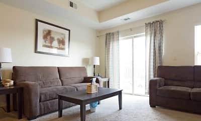 Living Room, Portal Place Apartments, 1