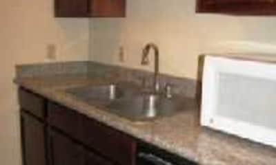 Kitchen, Gaslite Apartments, 2