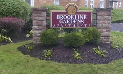 Community Signage, Brookline Gardens, 0