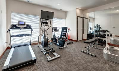 Fitness Weight Room, Lake Ridge Apartments, 2