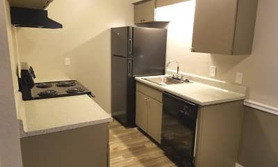 Kitchen, French Quarters Apartments, 1