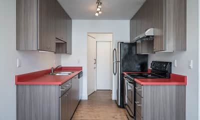 Kitchen, Beverly Grove Apartments, 0