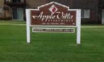 Community Signage, Apple Villa, 1