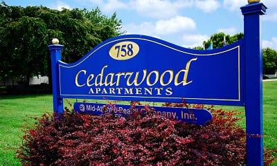 Community Signage, Cedarwood Apartments, 1