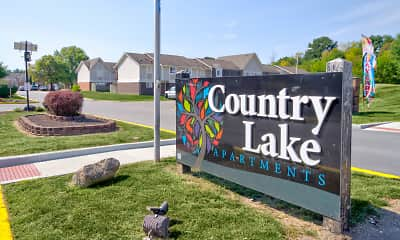 Community Signage, Country Lake Townhomes, 2