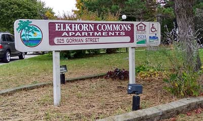 Community Signage, Elkhorn Commons Apartments, 2