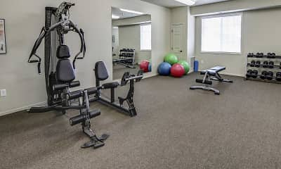 Fitness Weight Room, Lakewood Crossing Apartments, 2