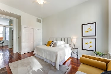 Living area- large double door closet for storage!