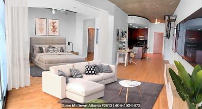 spacious, open floor plan hotel-style living