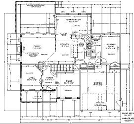 Main Level Floor Plan (Office, 1BR/1Ba)