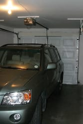 Attached garage with storage