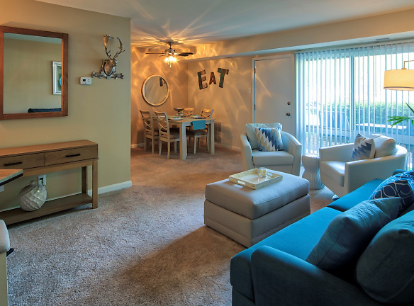 Spacious living room is great for entertaining