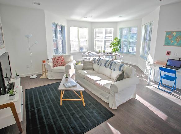 Corner Two Bedroom Apartment Living Room