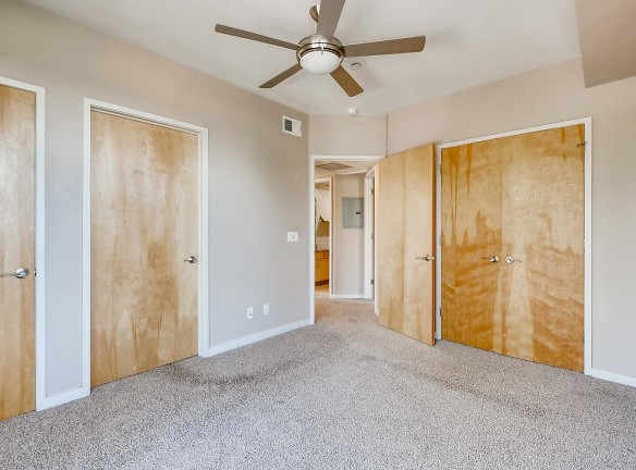 Master bedroom with access to balcony/master bathroom lots of closet space!
