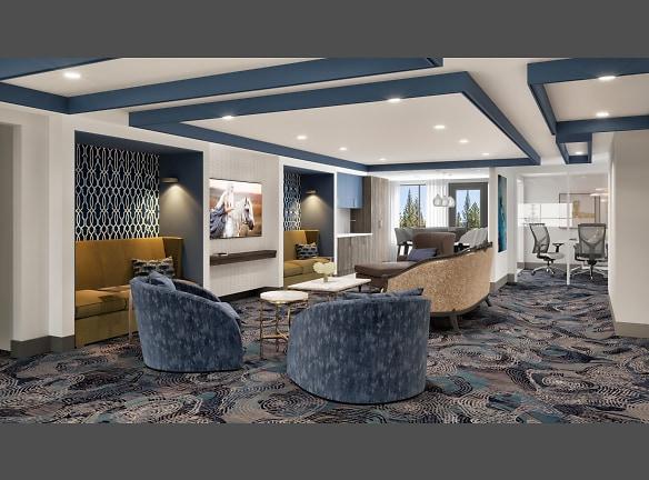 BLU Bellevue Apartments Lounge Area Rendering