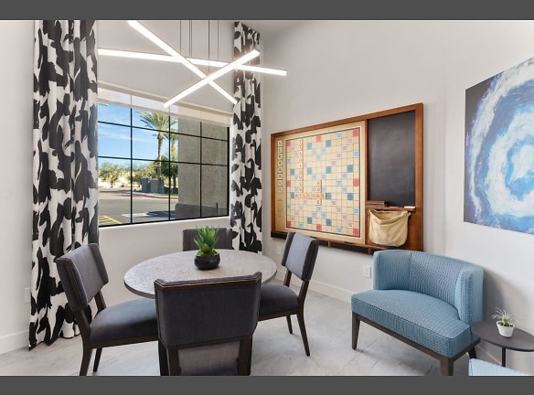 Stadium Vue Townhomes Clubroom and Game Board