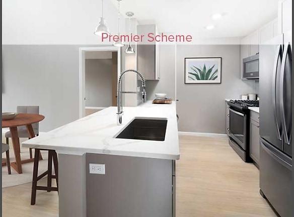 Premier Scheme Kitchen with Hard Surface Vinyl Plank Flooring