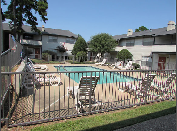 Sparkling swimming pool at Fairfield apartments in Little Rock, AR