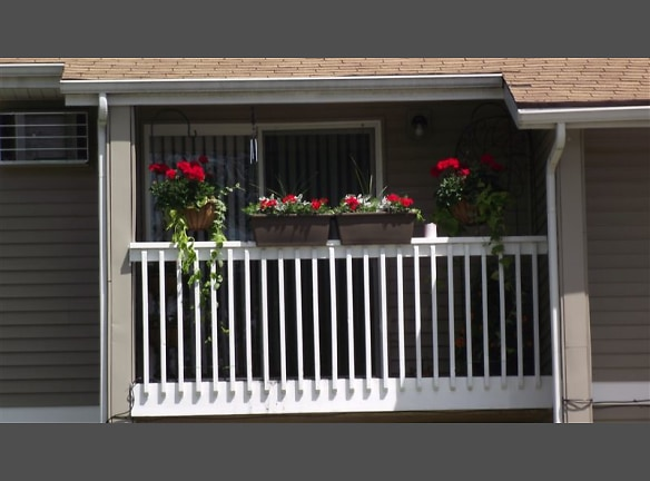A Residents balcony they had decorated
