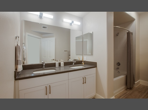 Renovated bathroom with brand-new features