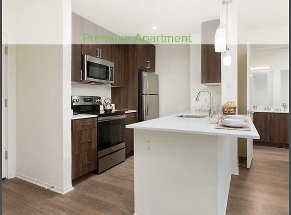 Premium Apartment Kitchen with Stainless Steel Appliances