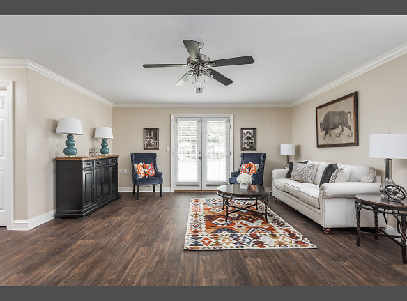 Open Concept Renovated Living  Room - Live Oak Trace Apartments
