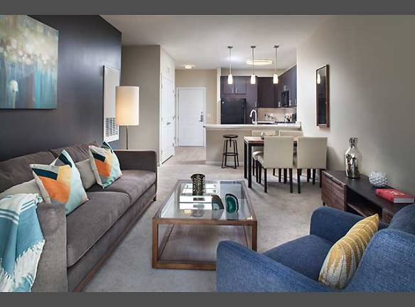 One Bedroom Kitchen, Living, and Dining Areas