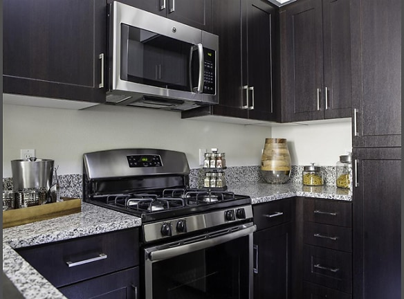 Each home is stocked with a GE Energy Star appliance package in sleek black and silver.