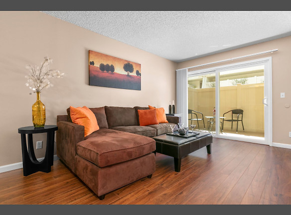 1BD/1BA Floorplan - Living Room