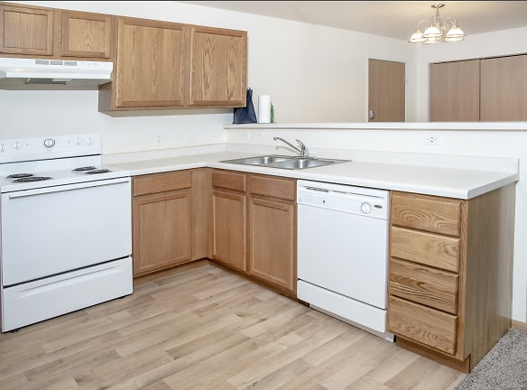 Updated Kitchens with Faux Wood Flooring & Laminate Countertops