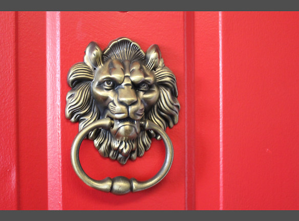Every door gets their own lion knocker!