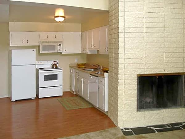 Fireplace in select units