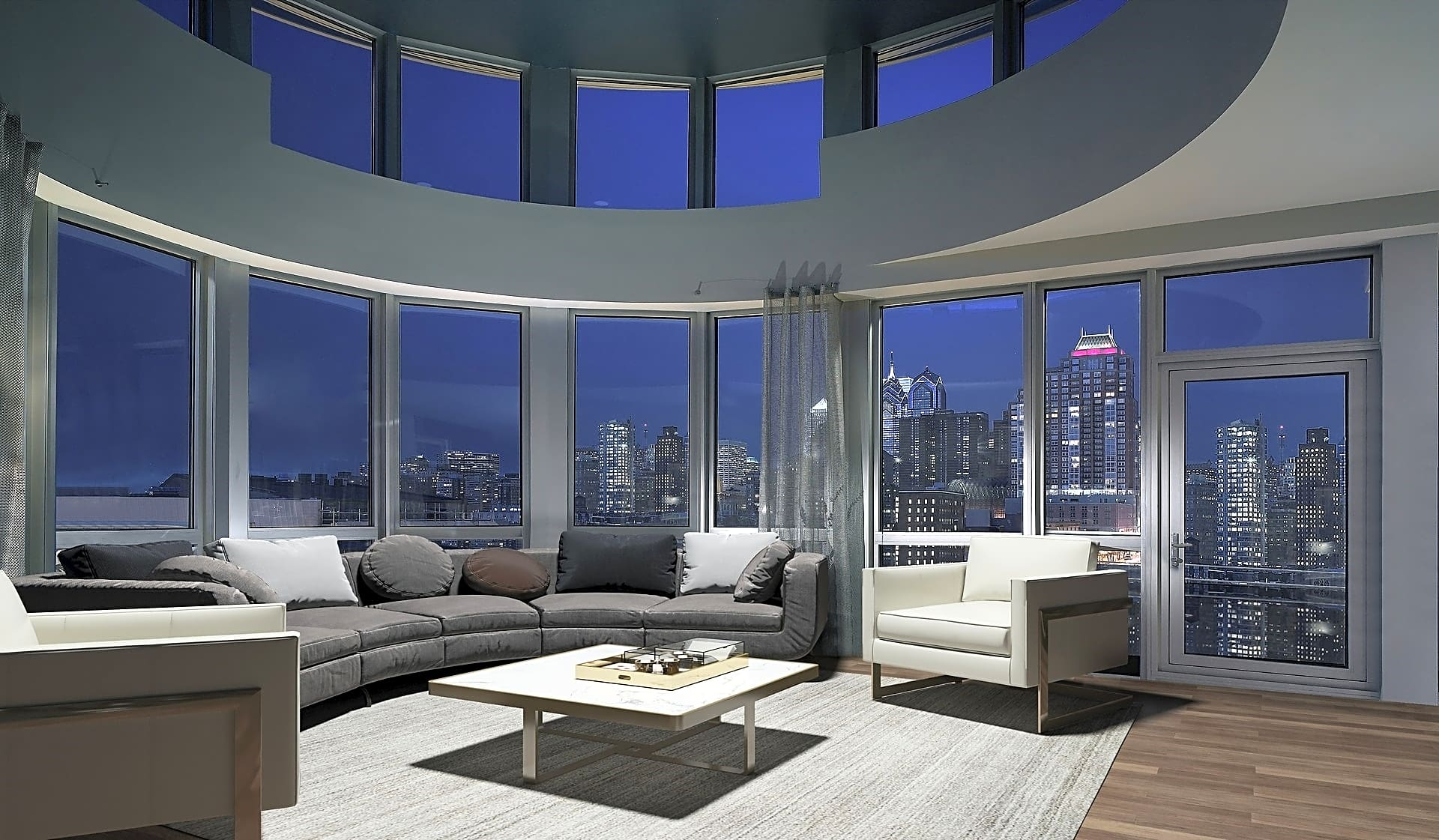 Loft-style homes with amazing city views