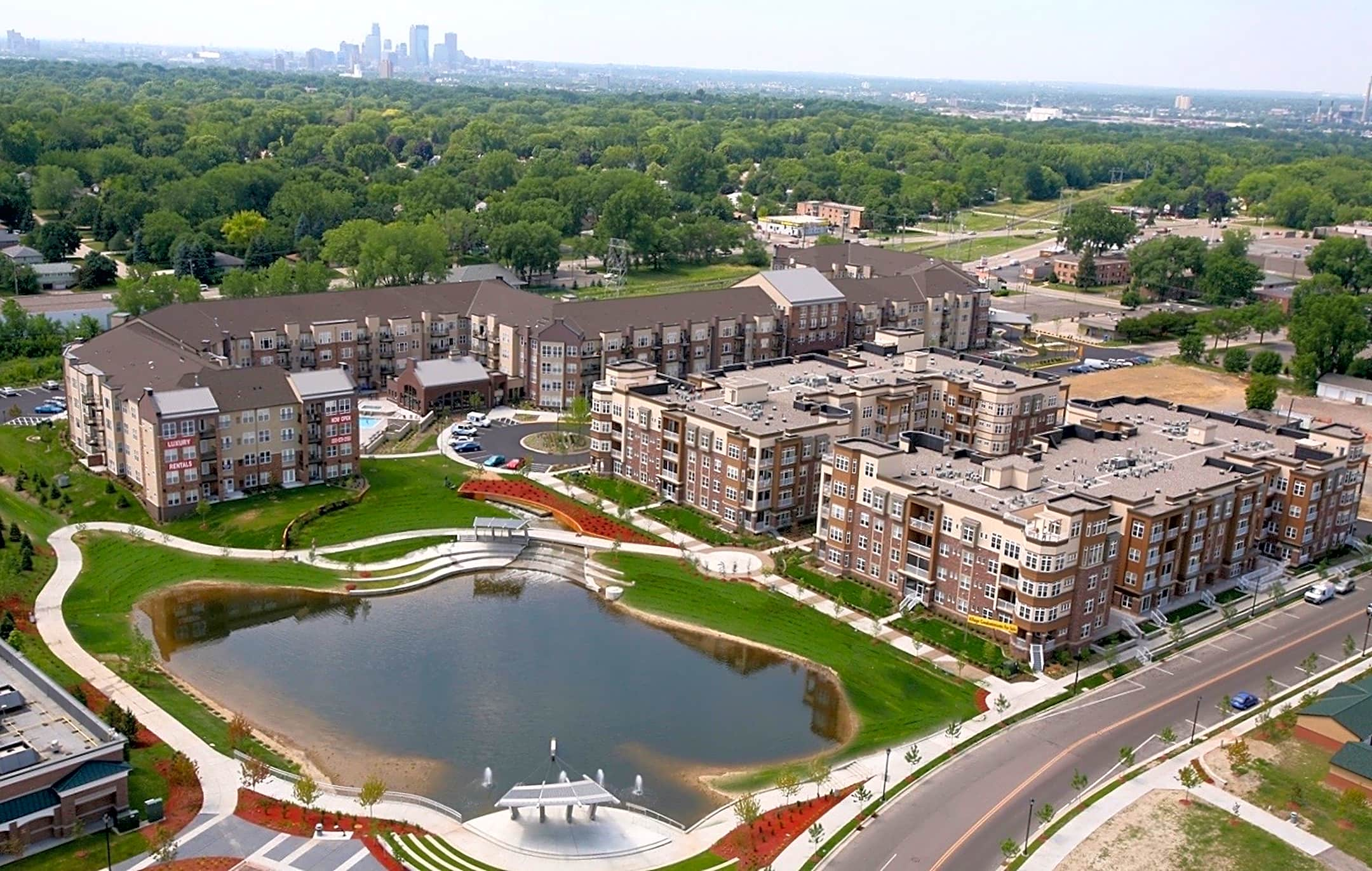 Apartments Near NWC Landings At Silver Lake Village for Northwestern College Students in Saint Paul, MN