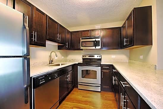 Newly renovated two-bedroom kitchen