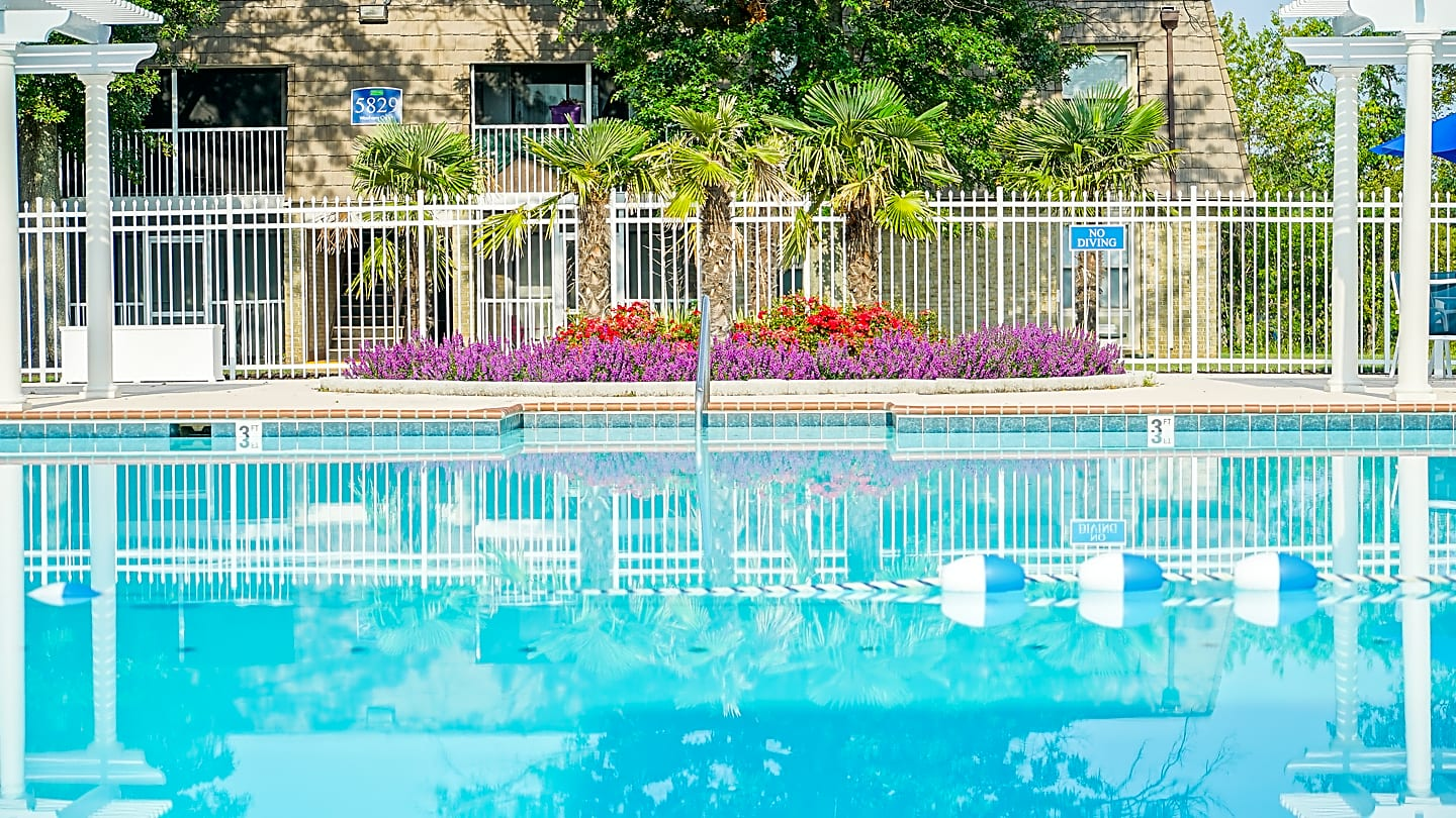 Relax by our sparkling swimming pool.