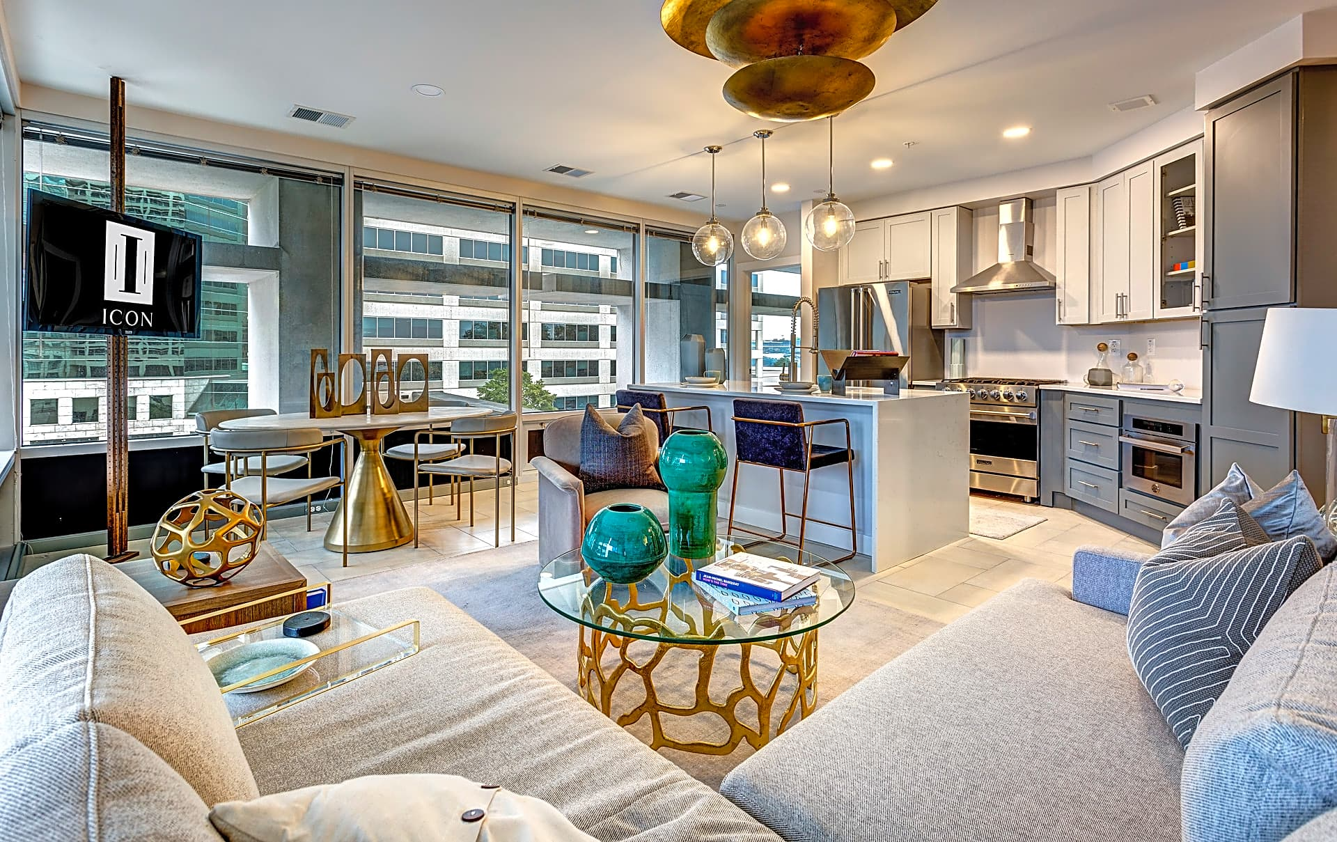 Spacious living areas with a grand view of the city:  welcome to Icon Norfolk Apartments!