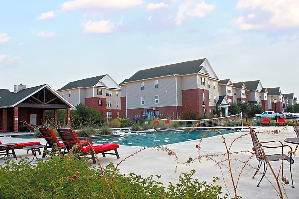 Outdoor swimming pool at River Ranch Apartments in San Angelo TX